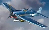 Blue Grumman F6F Hellcat wallpaper 2560x1440 jpg