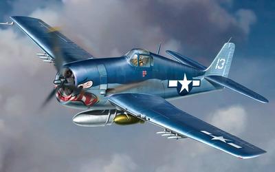 Blue Grumman F6F Hellcat wallpaper
