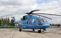 Blue Mil Mi-38 on helipad wallpaper 2880x1800 jpg