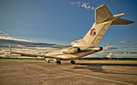 Boeing 727 back side view wallpaper 1920x1200 jpg