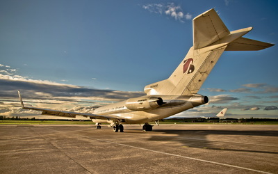 Boeing 727 back side view wallpaper
