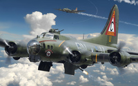 Boeing B-17 Flying Fortress wallpaper 1920x1200 jpg