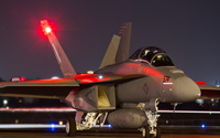 Boeing EA-18G Growler preparing to take-off wallpaper 2560x1600 jpg