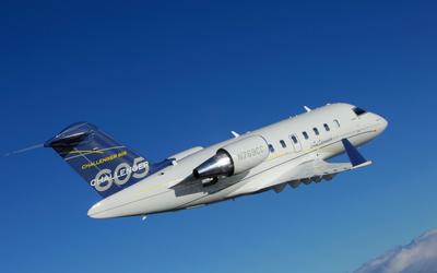 Bombardier Challenger 605 in-flight wallpaper