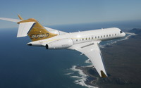 Bombardier Global Express above the ocean wallpaper 1920x1080 jpg