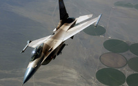Camouflaged General Dynamics F-16 Fighting Falcon wallpaper 1920x1080 jpg