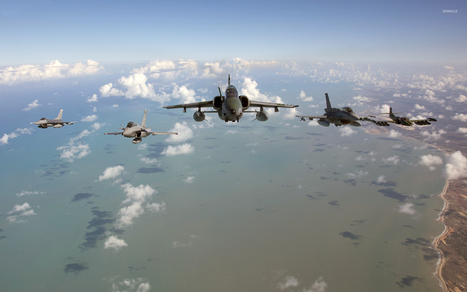 Dassault Rafale Flying Above The Clouds Wallpaper Aircraft