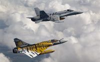 F-18 and Mirage wallpaper 1920x1200 jpg