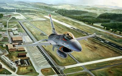 General Dynamics F-16 Fighting Falcon [25] wallpaper