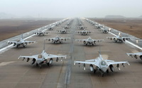 General Dynamics F-16 Fighting Falcon lot wallpaper 1920x1200 jpg