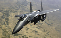 Gray McDonnell Douglas F-15E Strike Eagle wallpaper 2880x1800 jpg