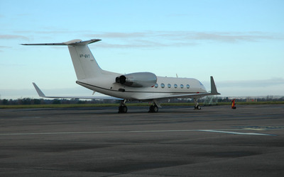 Gulfstream IV back side view wallpaper