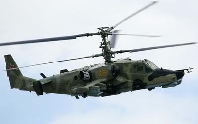 Kamov Ka-50 with camouflage wallpaper