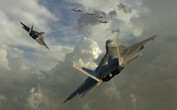 Lockheed Martin F-22 Raptor [3] wallpaper 1920x1200 jpg