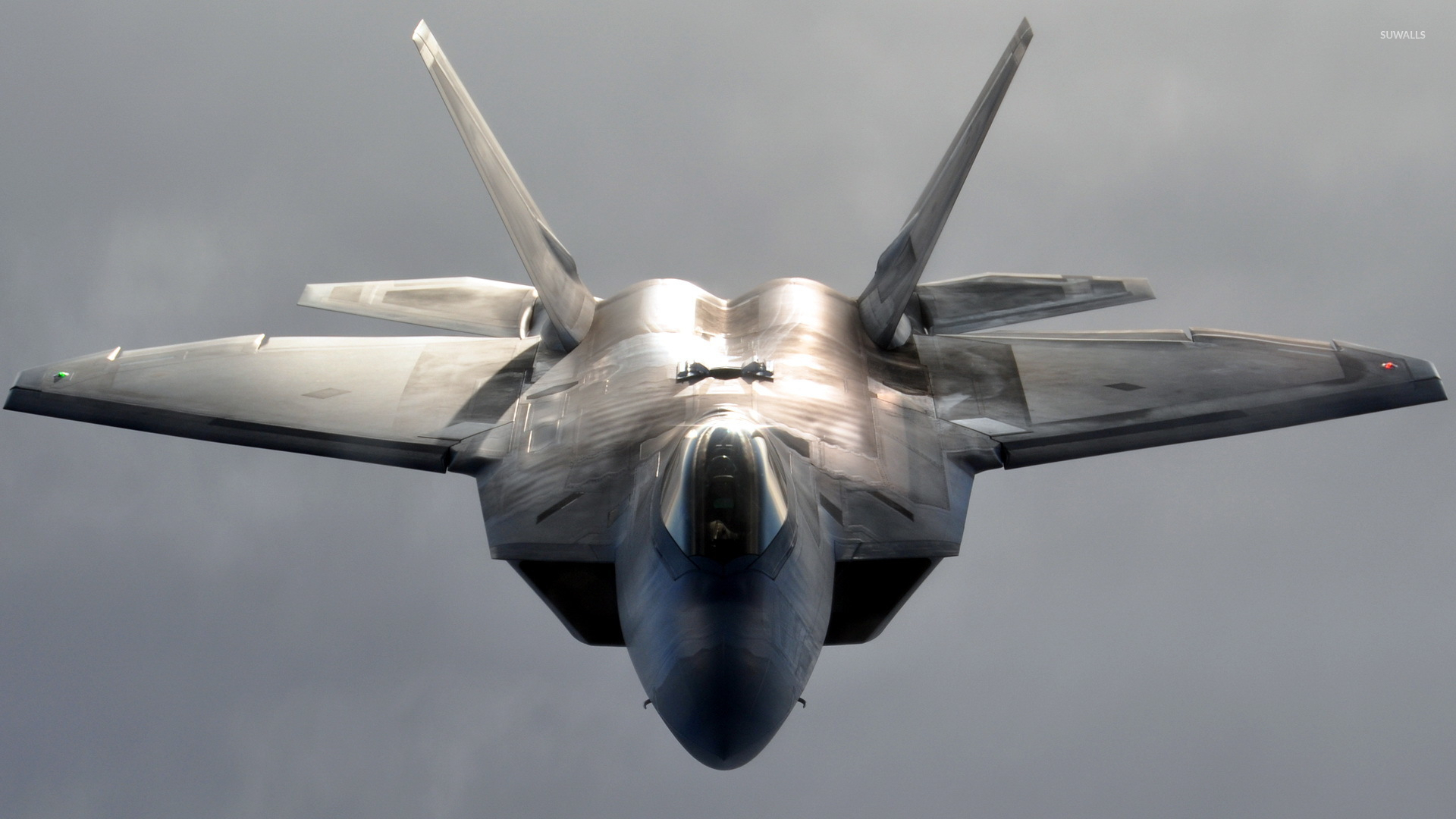 Lockheed Martin F 22 Raptor Front View Wallpaper