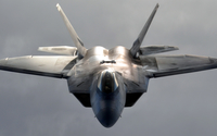 Lockheed Martin F-22 Raptor front view wallpaper 1920x1080 jpg