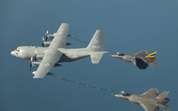 Lockheed Martin F-35 Lightning II refueling in-flight wallpaper 2560x1600 jpg