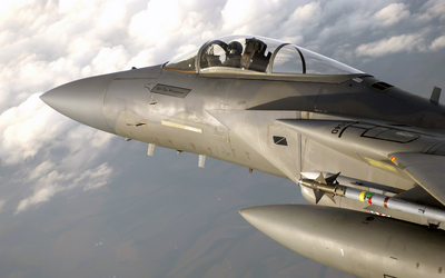 McDonnell Douglas F-15 Eagle pilot cabin close-up wallpaper