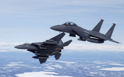 McDonnell Douglas F-15 Eagles in the sky wallpaper