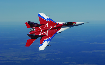 Mikoyan MiG-29 on a side wallpaper