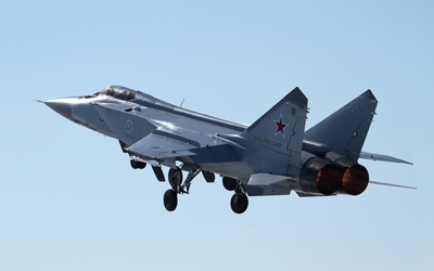 Mikoyan MiG-31 taking-off wallpaper