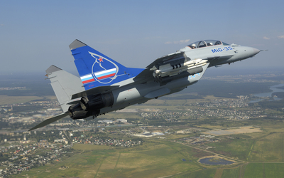 Mikoyan MiG-35 ascending wallpaper