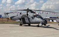 Mil Mi-24 on the airport track wallpaper 3840x2160 jpg