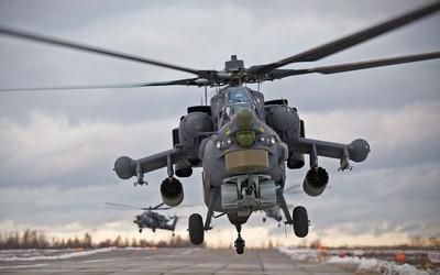 Mil Mi-28 landing wallpaper