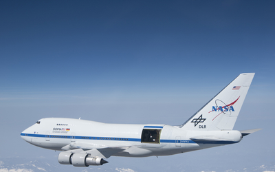 Nasa Boeing 747 in-flight wallpaper
