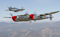 North American P-51 Mustang and Lockheed P-38 Lightning wallpaper 1920x1200 jpg