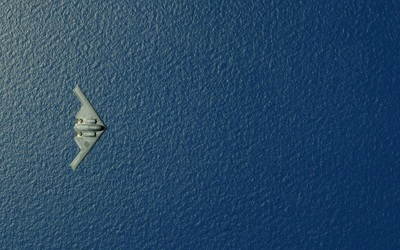 Northrop Grumman B-2 Spirit above the ocean wallpaper