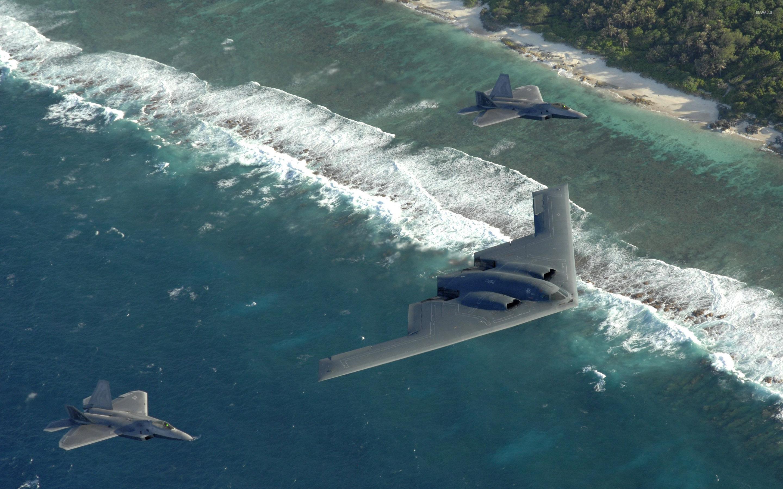 Northrop Grumman B 2 Spirit And Lockheed Martin F 22 Raptor