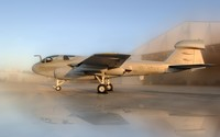 Northrop Grumman EA-6B Prowler during a sand storm wallpaper 2880x1800 jpg