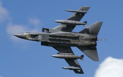 Panavia Tornado view from under wallpaper