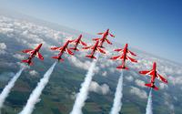 Red Arrows in formation wallpaper 1920x1200 jpg