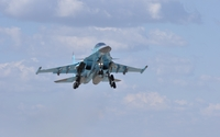Sukhoi Su-34 during takeoff wallpaper 2560x1600 jpg