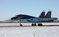 Sukhoi Su-34 on a winter day wallpaper 1920x1200 jpg