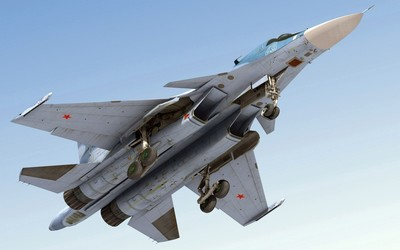 Sukhoi Su-34 view from under wallpaper