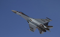 Sukhoi Su-35 in flight view from under wallpaper 2560x1600 jpg