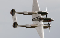 Top view of a Lockheed P-38 Lightning wallpaper 3840x2160 jpg