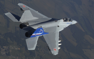 Top view of a Mikoyan MiG-35 wallpaper