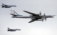 Tupolev Tu-95 and Mikoyan MiG-29 wallpaper 1920x1200 jpg