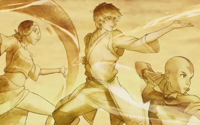 Aang, Zuko and Katara - Avatar: The Last Airbender wallpaper