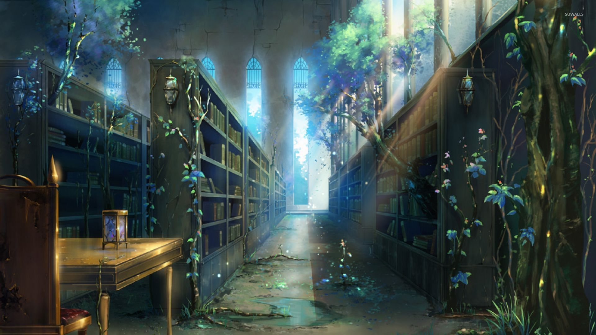 library wallpaper - artistic wallpapers - #19137
