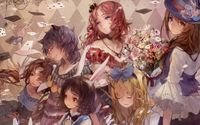 Alice in Wonderland inspired girls wallpaper 1920x1080 jpg