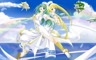 Alicia Florence and Alice Carroll - Aria the Origination wallpaper