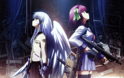 Angel and Yuri - Angel Beats! wallpaper