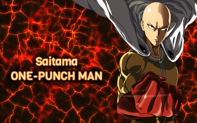 Angry Saitama in One-Punch Man wallpaper