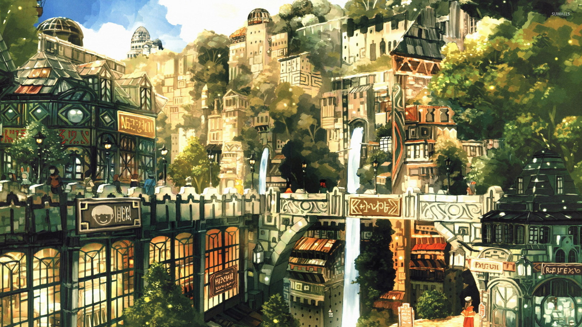 anime city wallpaper anime wallpapers 28573