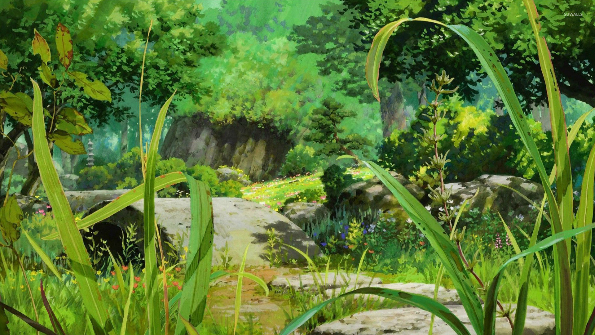 Anime forest wallpaper anime wallpapers 28742 anime forest wallpaper voltagebd Gallery